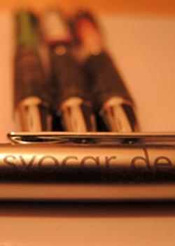 Kugelschreiberr in Nahaufname